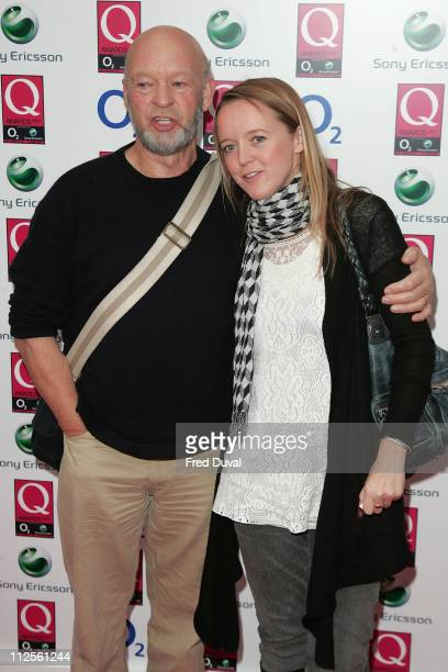 Michael Eavis and daughter arriving at the Q Awards held at Grosvenor House Hotel on October 8 2007 in London England