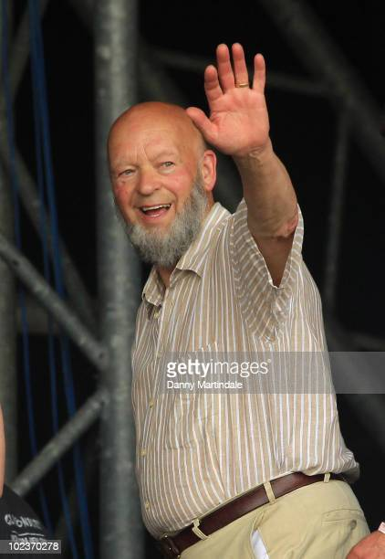 Michael Eavis attends the first day of the Glastonbury Festival at Worthy Farm on June 24 2010 in Glastonbury England