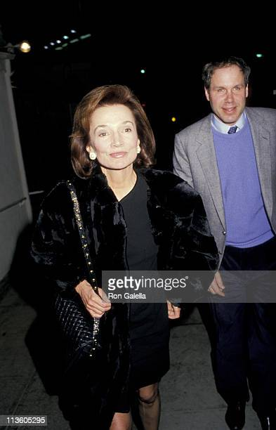 Michael Eisner and Lee Radziwill during Michael Eisner and Lee Radziwell Outside Spagos at Spagos Restaurant in Los Angeles California United States