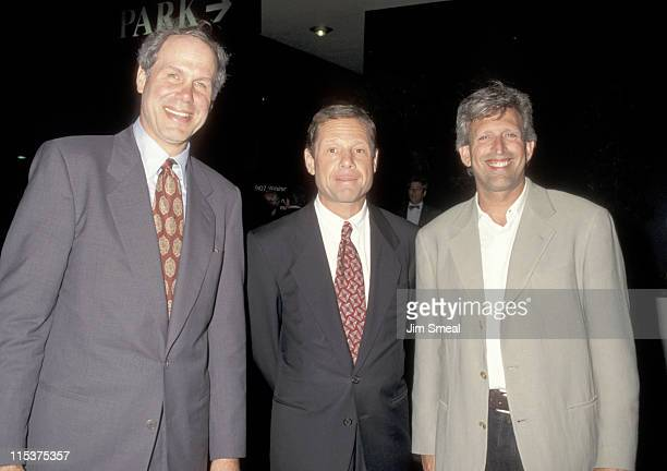 Michael Eisner Michael Ovitz and Joe Roth during Industry Screening of 'Unstrung Heroes' at Writers Guild of America Theater in Beverly Hills...