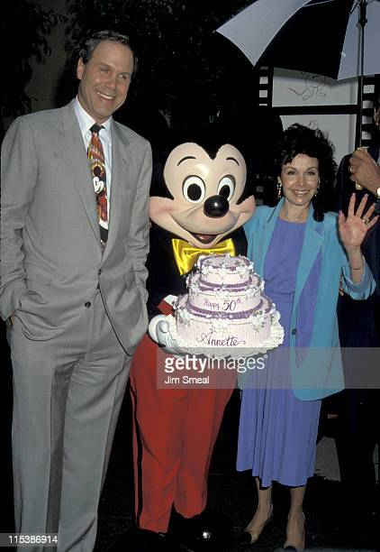 Michael Eisner Mickey Mouse and Annette Funicello