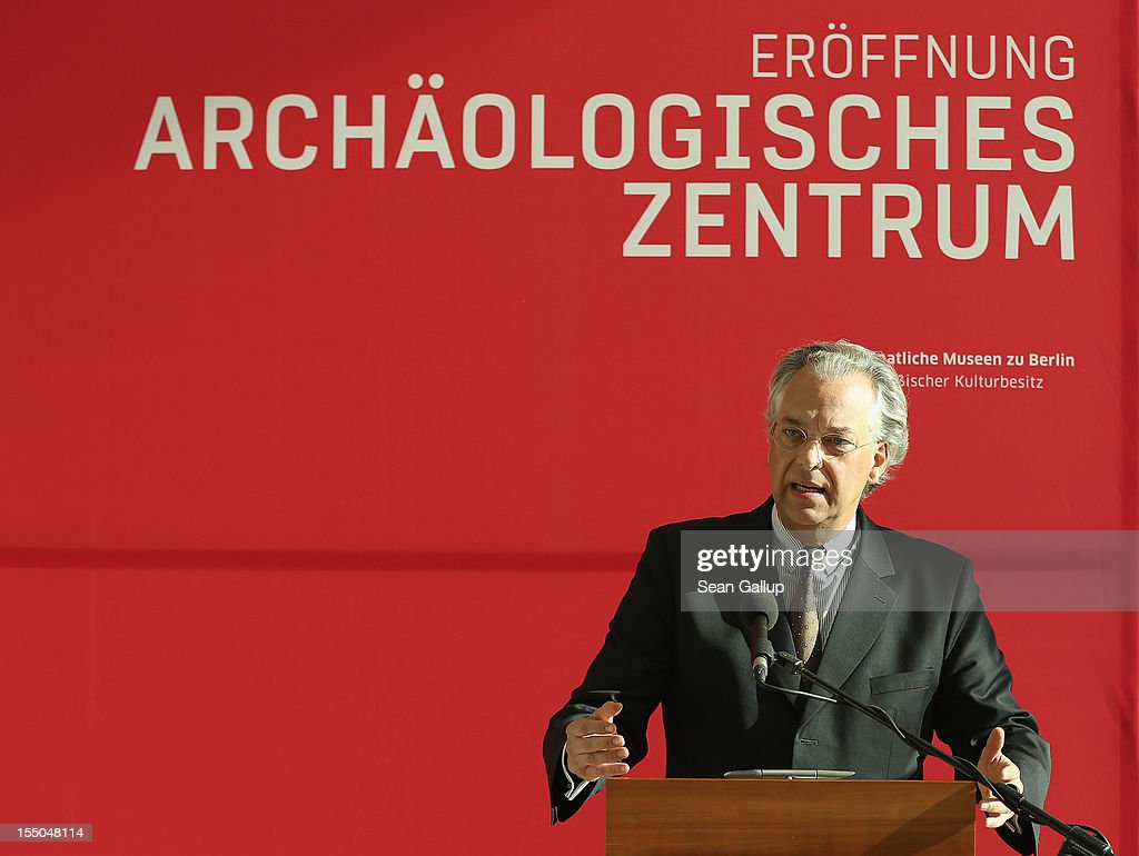 Michael Eissenhauer, General Director of the State Museums of Berlin, speaks at the opening of the new Archaeology Center (Archaeologisches Zentrum) on October 31, 2012 in Berlin, Germany. The center, which houses archives, research, laboratory and restoration faicilites, will serve the city's five archaeological museums. Germany has a rich history of leading archaeological excavations across the globe.