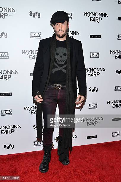 Michael Eklund attends the premiere of Syfy's 'Wynonna Earp' at WonderCon 2016 at Regal LA Live Stadium 14 on March 26 2016 in Los Angeles California