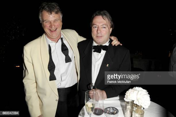 Michael Elliott and Christopher Hitchens attend BLOOMBERG VANITY FAIR Cocktail Reception After the White House Correspondents' Dinner at The...
