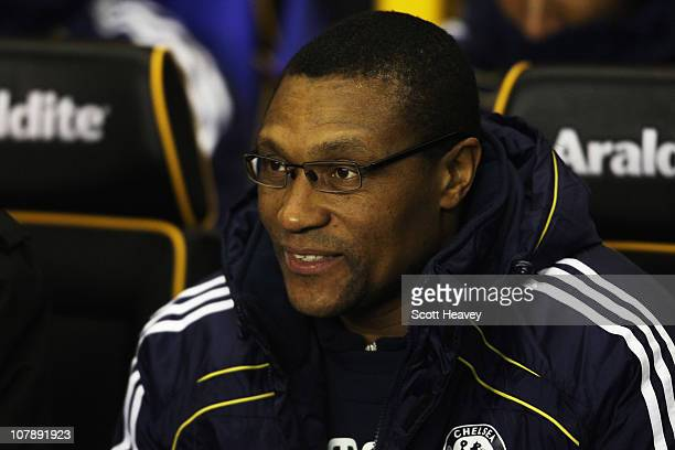 Michael Emenalo the Chelsea assistant first team coach is seen before the Barclays Premier League match between Wolverhampton Wanderers and Chelsea...