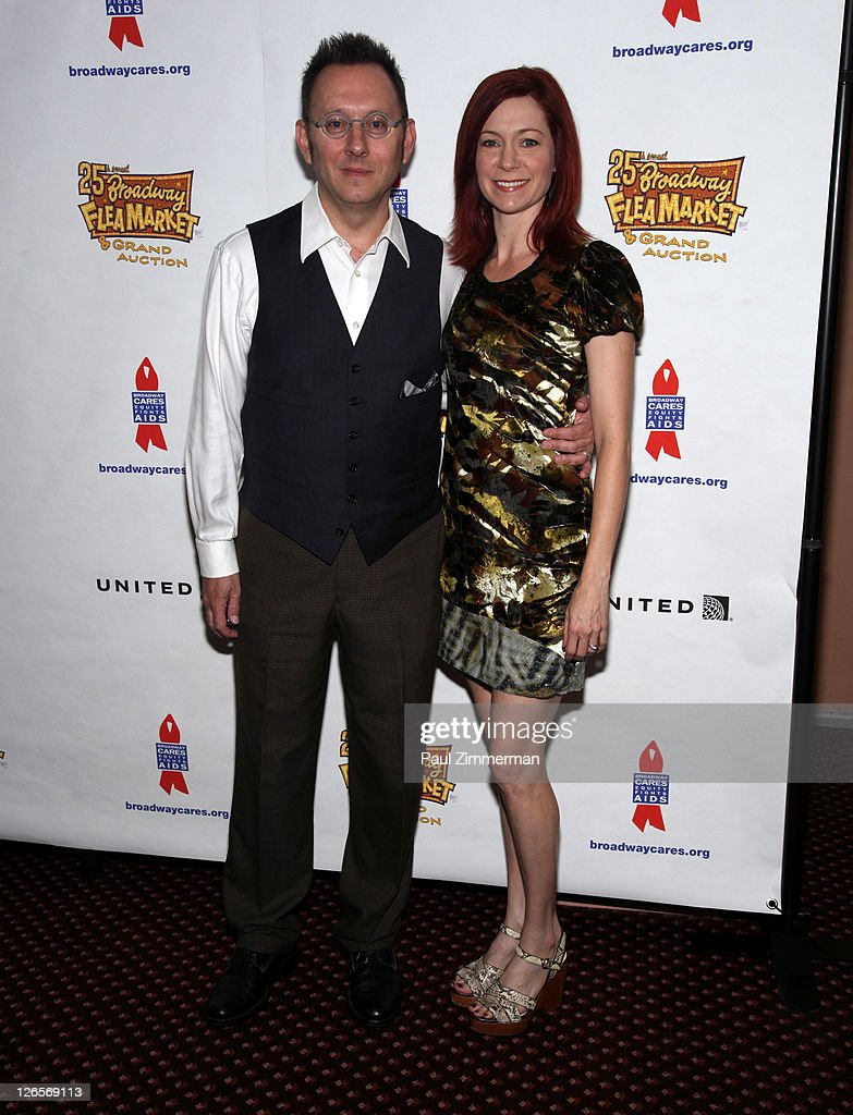 <a gi-track='captionPersonalityLinkClicked' href=/galleries/search?phrase=Michael+Emerson&family=editorial&specificpeople=653299 ng-click='$event.stopPropagation()'>Michael Emerson</a> and <a gi-track='captionPersonalityLinkClicked' href=/galleries/search?phrase=Carrie+Preston&family=editorial&specificpeople=2220324 ng-click='$event.stopPropagation()'>Carrie Preston</a> attend the 25th annual Broadway Flea Market at The Bernard B. Jacobs Theatre on September 25, 2011 in New York City.