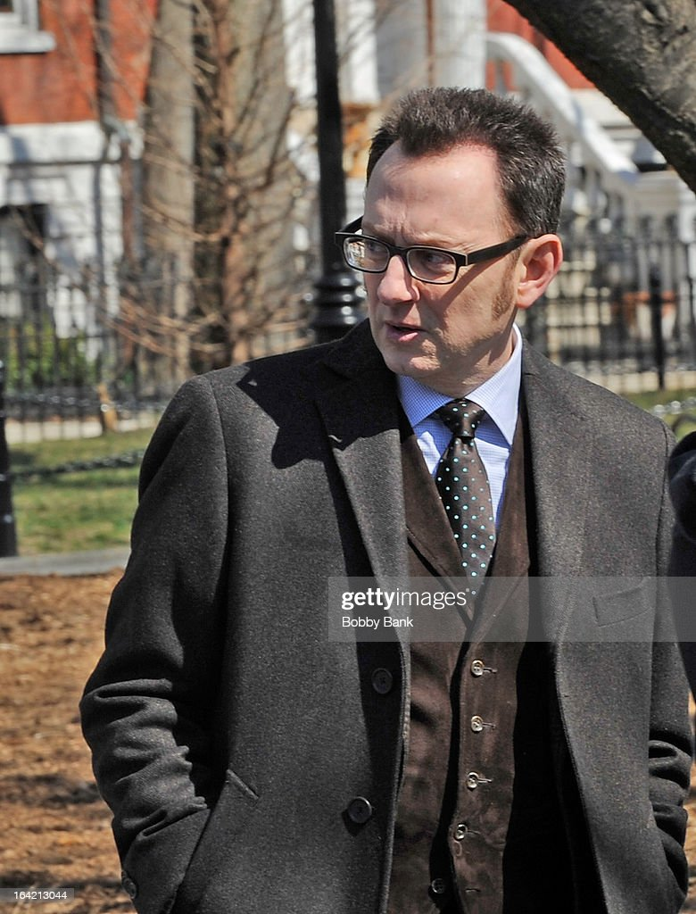 <a gi-track='captionPersonalityLinkClicked' href=/galleries/search?phrase=Michael+Emerson&family=editorial&specificpeople=653299 ng-click='$event.stopPropagation()'>Michael Emerson</a> filming on location for 'Person Of Interest' on March 20, 2013 in New York City.