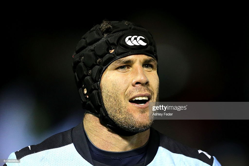 <a gi-track='captionPersonalityLinkClicked' href=/galleries/search?phrase=Michael+Ennis&family=editorial&specificpeople=224839 ng-click='$event.stopPropagation()'>Michael Ennis</a> of the Sharks looks on during the round 16 NRL match between the Cronulla Sharks and the New Zealand Warriors at Southern Cross Group Stadium on June 25, 2016 in Sydney, Australia.