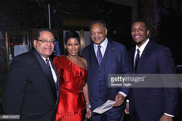 Michael Eric Dyson Tamron Hall Jesse Jackson and Teonte Miller attend the National CARES Mentoring Movement's 2nd Annual 'For the Love of Our...