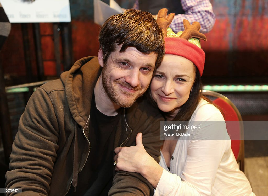 Michael Esper and Sally Ann Triplett attend the CD autograph signing for the Original Broadway Cast Recording of 'The Last Ship' on stage at The Neil Simon Theatre on December 21, 2014 in New York City.