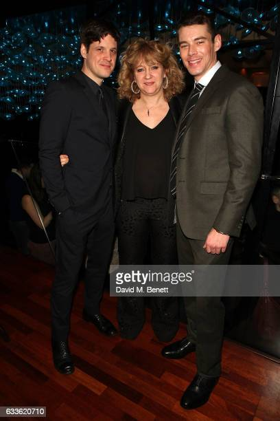 Michael Esper Sonia Friedman and Brian J Smith arrive at the afterparty at DSTRKT following the press night performance of 'The Glass Menagerie' at...