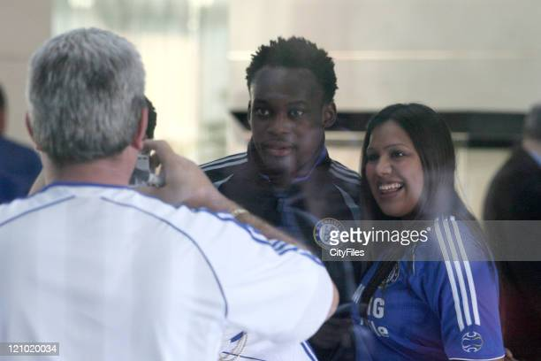 Michael Essien during UEFA Champions League Chelsea Players Relax Before Match Against Porto February 21 2007 at Porto in Porto Portugal