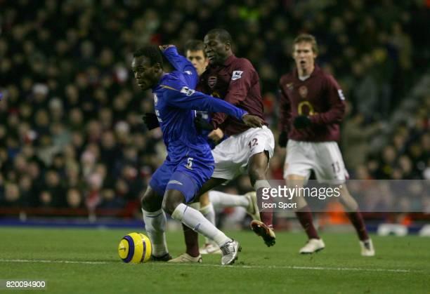 Michael ESSIEN / LAUREN Arsenal / Chelsea 17eme journee de Premier League