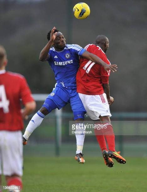 Michael Essien of Chelsea during a Barclays Premier Reserve League South match between Chelsea Reserves and West Bromwich Albion Reserves at Cobham...