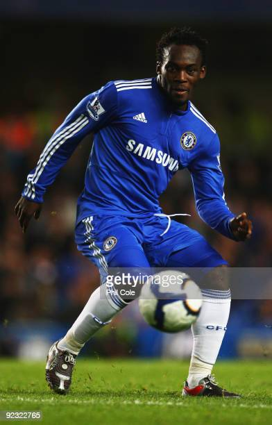 Michael Essien of Chelsea in action during the Barclays Premier League match between Chelsea and Blackburn Rovers at Stamford Bridge on October 24...