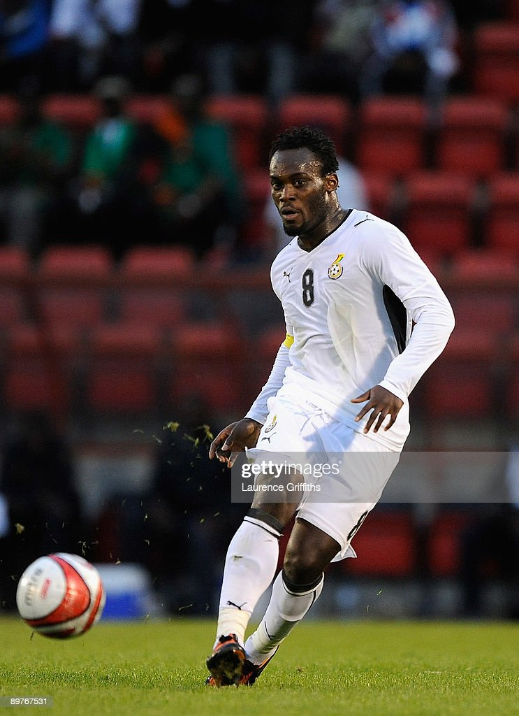 Michael Essien of Ghana in action during the International Friendly match between Ghana and Zambia at Brisbane Road on August 12, 2009 in London, England.