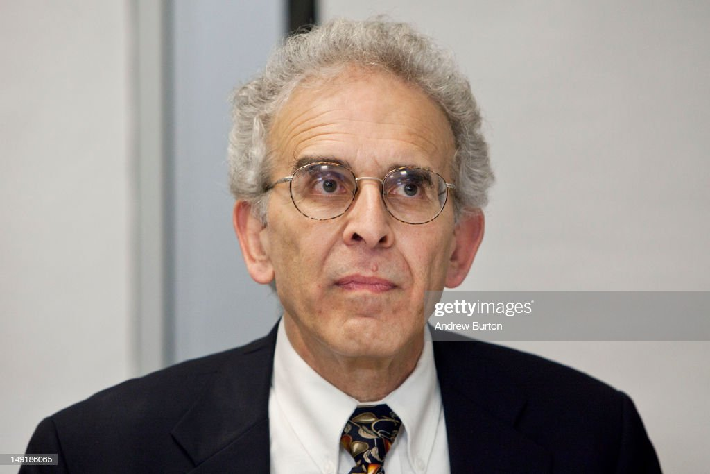 Michael F. Jacobson, Ph.D., co-founder and executive director of the Center for Science in the Public Interest, answers questions from the media prior to a public hearing regarding a proposal to ban the sale of certain larger sizes of sugary drinks at the Department of Health and Mental Hygiene July 24, 2012 in the Queens borough of New York City. Under the proposed ban, sugary drinks with no nutritional value would not be allowed to be sold in sizes over 16 ounces in certain retail outlets.