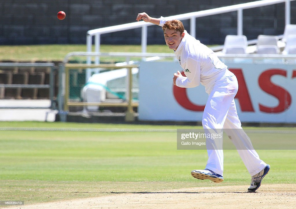 Michael Faasen of South Africa during day 3 of the U/19 1st Youth Test match between South Africa and England at Sahara Park Newlands on January 29, 2013 in Cape Town, South Africa