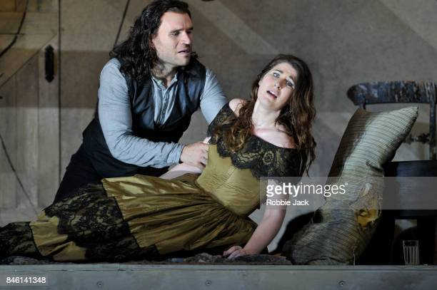 Michael Fabiano as Rodolfo and Nicole Car as Mimi in the Royal Opera's production of Giacomo Puccini's La boheme directed by Richard Jones and...