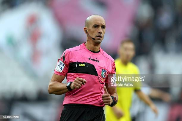 Michael Fabri referee during the Serie A match between Juventus and AC Chievo Verona on September 9 2017 in Turin Italy
