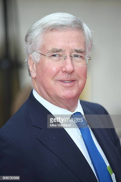 Michael Fallon attends The Sun Military Awards at The Guildhall on January 22 2016 in London England