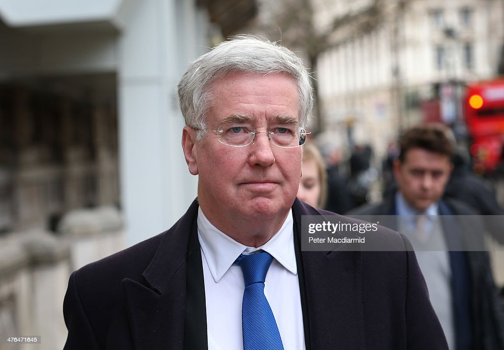 Michael Fallon, Minister of State for Business and Enterprise leaves the Cabinet Office after attending a National Security Council meeting on March 3, 2014 in London, England. Prime Minister David Cameron has held the meeting to discuss the situation in Ukraine.