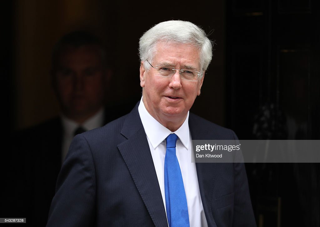 <a gi-track='captionPersonalityLinkClicked' href=/galleries/search?phrase=Michael+Fallon+-+Politician&family=editorial&specificpeople=13243418 ng-click='$event.stopPropagation()'>Michael Fallon</a>, Secretary of State for Defence leaves Downing Street following a cabinet meeting on June 27, 2016 in London, England. British Prime Minister David Cameron chaired an emergency Cabinet meeting this morning, after Britain voted to leave the European Union. Chancellor George Osborne spoke at a press conference ahead of the start of financial trading and outlining how the Government will 'protect the national interest' after the UK voted to leave the EU.