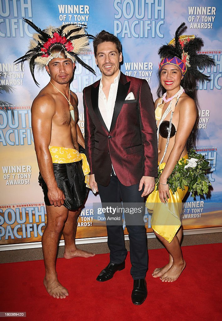 <a gi-track='captionPersonalityLinkClicked' href=/galleries/search?phrase=Michael+Falzon&family=editorial&specificpeople=167188 ng-click='$event.stopPropagation()'>Michael Falzon</a> arrives at Opera Australia's 'South Pacific' opening night at the Sydney Opera House on September 12, 2013 in Sydney, Australia.