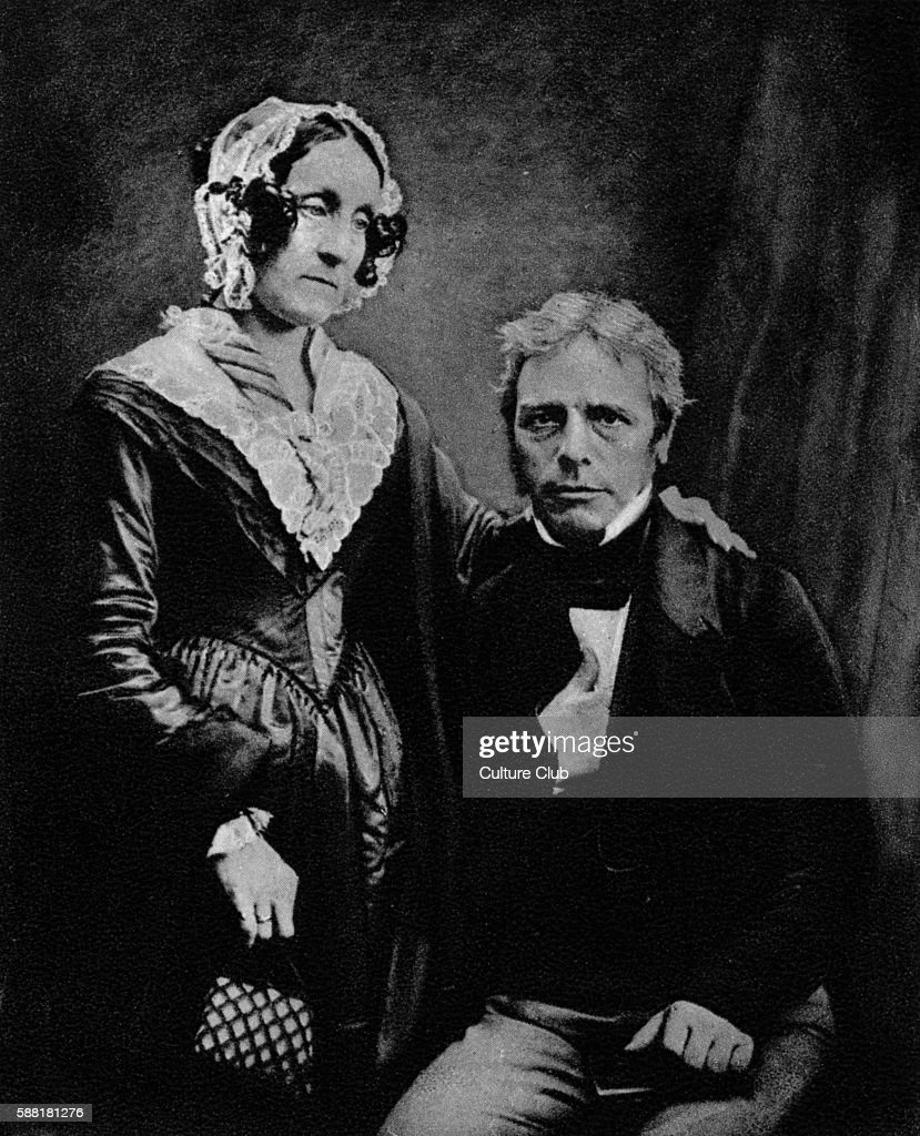 Michael Faraday with his wife from a daguerreotype English scientist Electricity