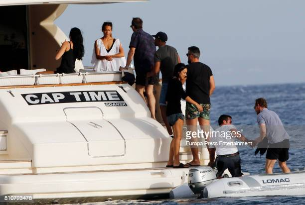 Michael Fassbender and Alicia Vikander are seen on July 7 2017 in Ibiza Spain