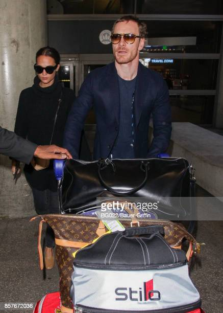 Michael Fassbender and Alicia Vikander are seen on October 04 2017 in Los Angeles California