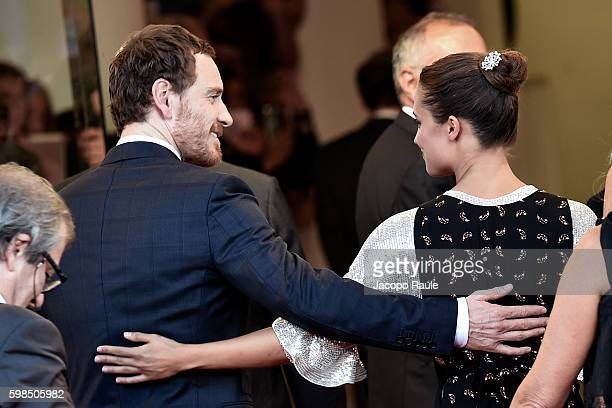 Michael Fassbender and Alicia Vikander attend the premiere of 'The Light Between Oceans' during the 73rd Venice Film Festival at on September 2 2016...