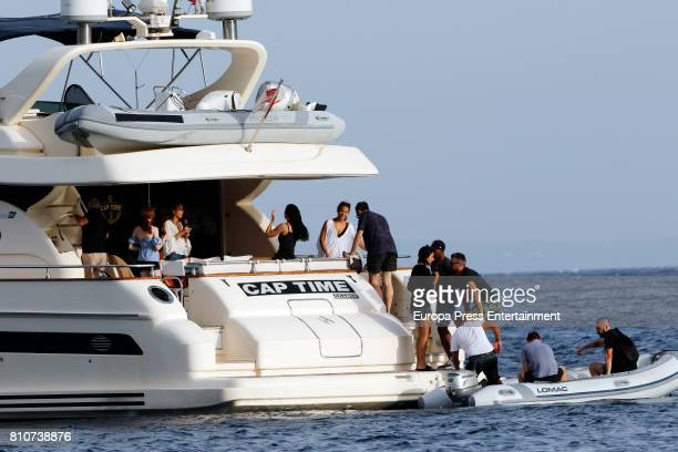 Michael Fassbender and Alicia Vikander is seen on July 7 2017 in Ibiza Spain