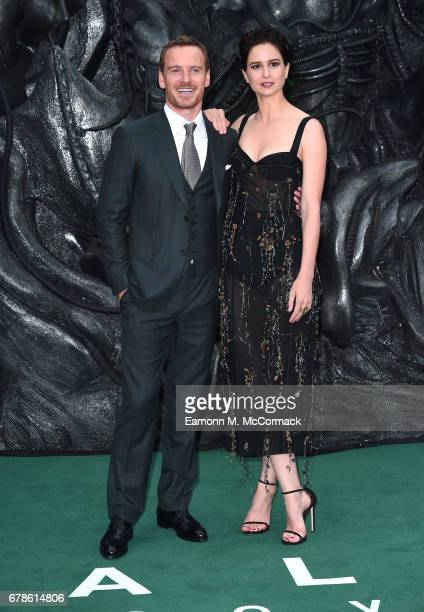 Michael Fassbender and Katherine Waterston attend the 'Alien Covenant' World Premiere at the Odeon Leicester Square on May 4 2017 in London England