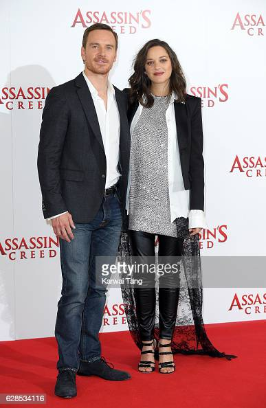 Michael Fassbender and Marion Cotillard attend the 'Assassin's Creed' photocall at Claridges Hotel on December 8 2016 in London England