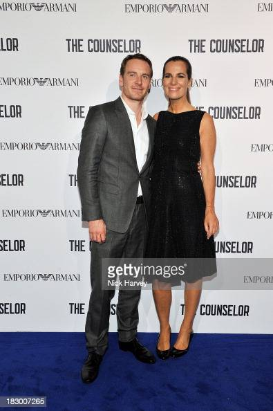 Michael Fassbender and Roberta Armani arrive at 'The Counselor' Reception at Freemasons' Hall United Grand Lodge of England in London on October 3...