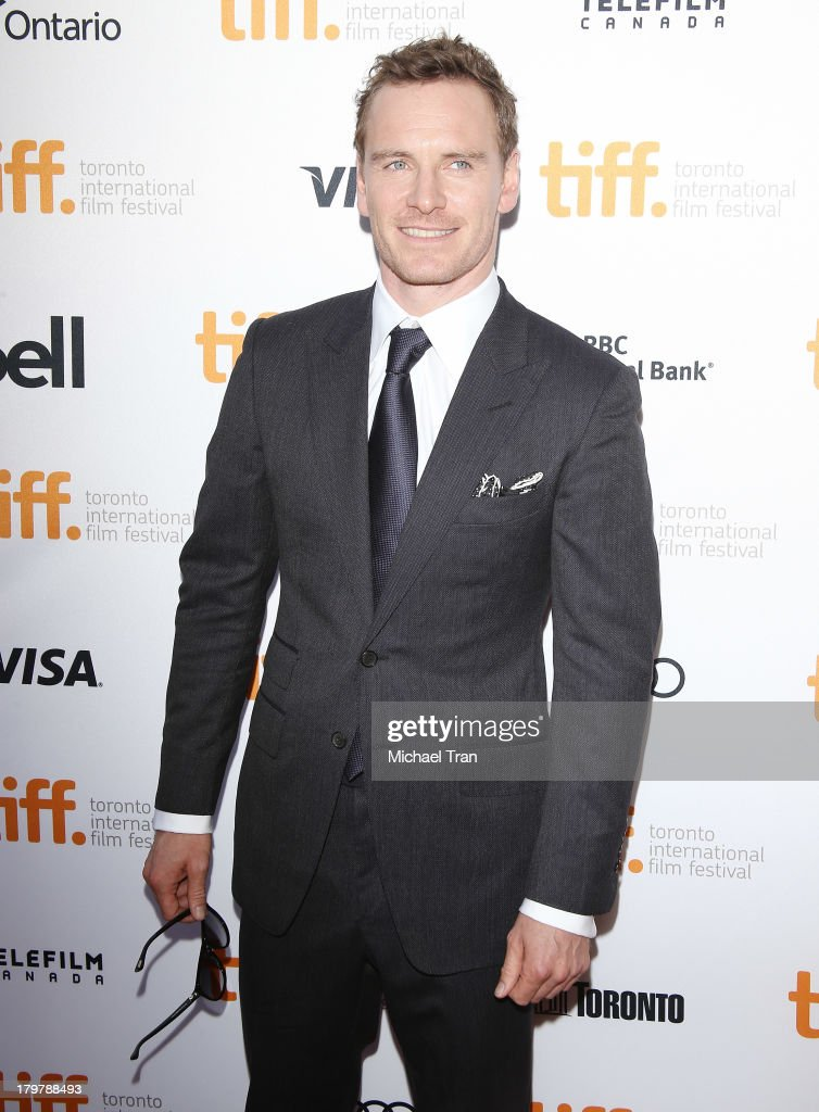 Michael Fassbender arrives at the '12 Years A Slave' premiere during the 2013 Toronto International Film Festival held at Princess of Wales Theatre...