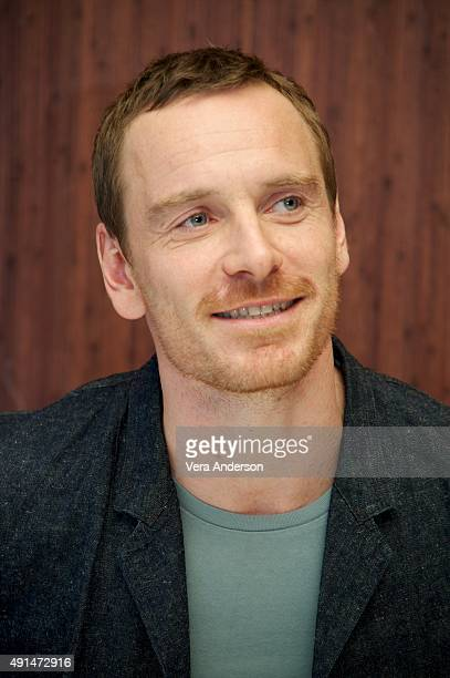 Michael Fassbender at the 'Steve Jobs' Press Conference at the Mandarin Oriental Hotel on October 3 2015 in New York City