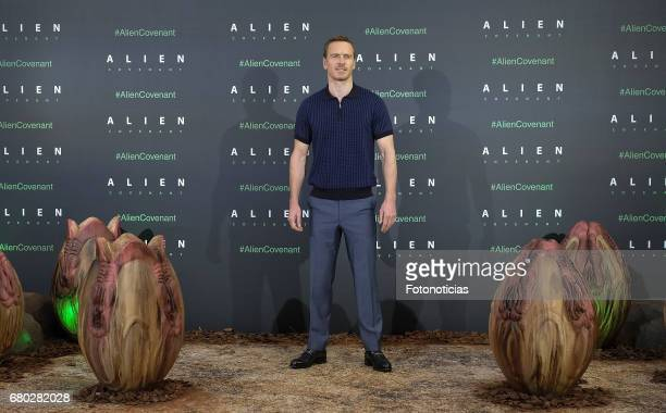 Michael Fassbender attends a photocall for 'Alien Covenant' at the Villa Magna Hotel on May 8 2017 in Madrid Spain