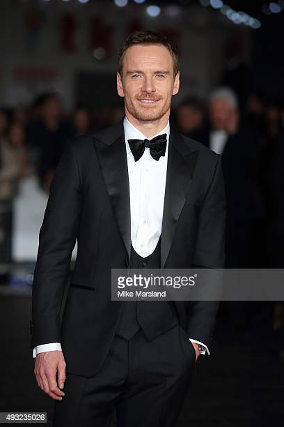 Michael Fassbender attends a screening of 'Steve Jobs' on the closing night of the BFI London Film Festival at Odeon Leicester Square on October 18...