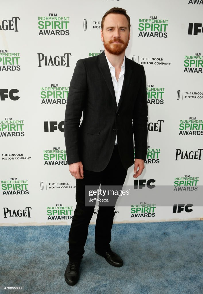 <a gi-track='captionPersonalityLinkClicked' href=/galleries/search?phrase=Michael+Fassbender&family=editorial&specificpeople=4157925 ng-click='$event.stopPropagation()'>Michael Fassbender</a> attends the 2014 Film Independent Spirit Awards at Santa Monica Beach on March 1, 2014 in Santa Monica, California.