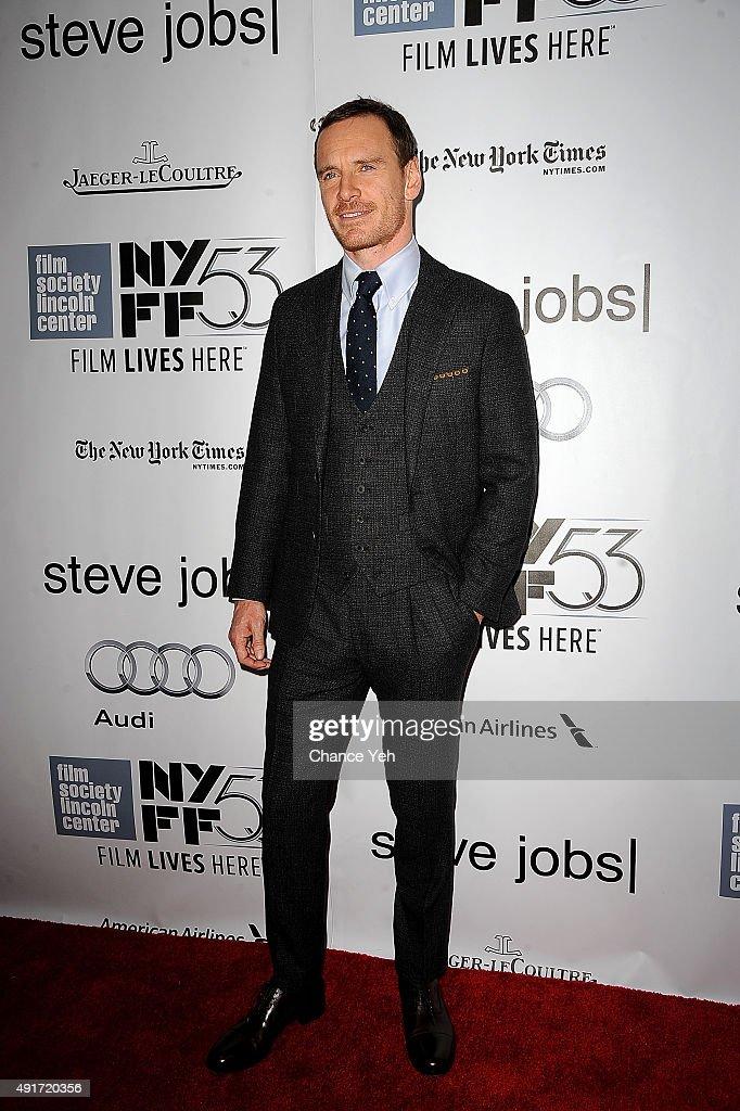 Michael Fassbender attends the 53rd New York Film Festival 'STEVE JOBS' screening at Alice Tully Hall on October 3 2015 in New York City