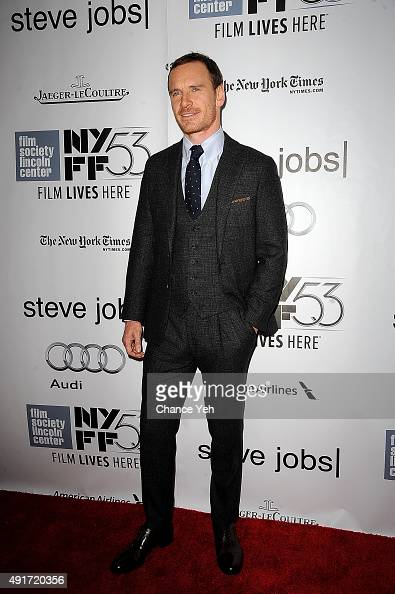 Michael Fassbender attends the 53rd New York Film Festival 'STEVE JOBS' screening at Alice Tully Hall on October 3 2015 in New York City