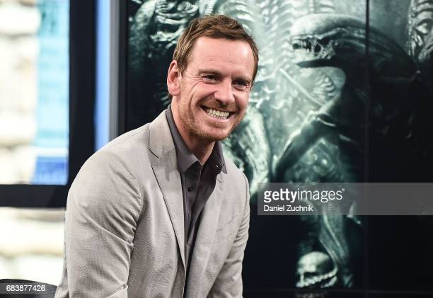 Michael Fassbender attends the Build Series to discuss the movie 'Alien Covenant' at Build Studio on May 16 2017 in New York City