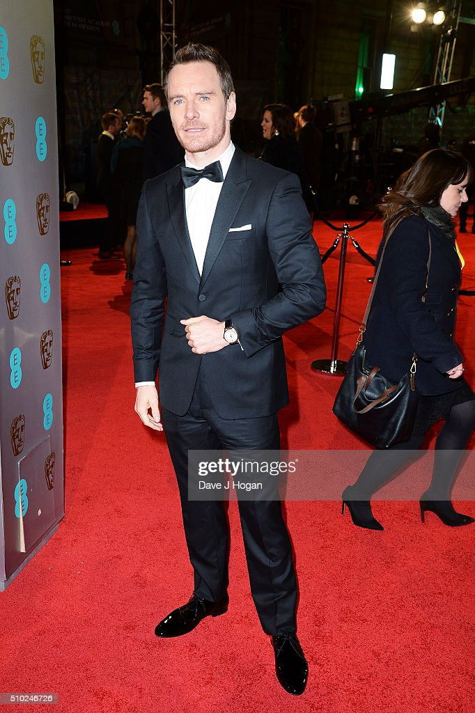<a gi-track='captionPersonalityLinkClicked' href=/galleries/search?phrase=Michael+Fassbender&family=editorial&specificpeople=4157925 ng-click='$event.stopPropagation()'>Michael Fassbender</a> attends the EE British Academy Film Awards at The Royal Opera House on February 14, 2016 in London, England.