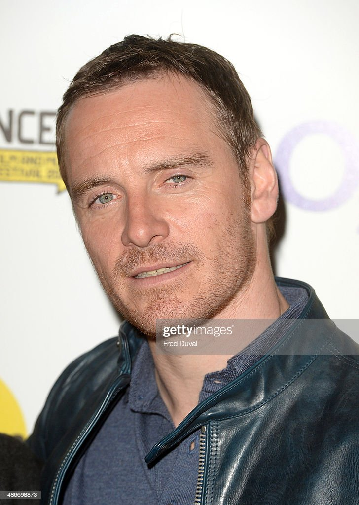 Michael Fassbender attends the premiere of 'Frank' at Sundance London at Cineworld 02 Arena on April 25 2014 in London England