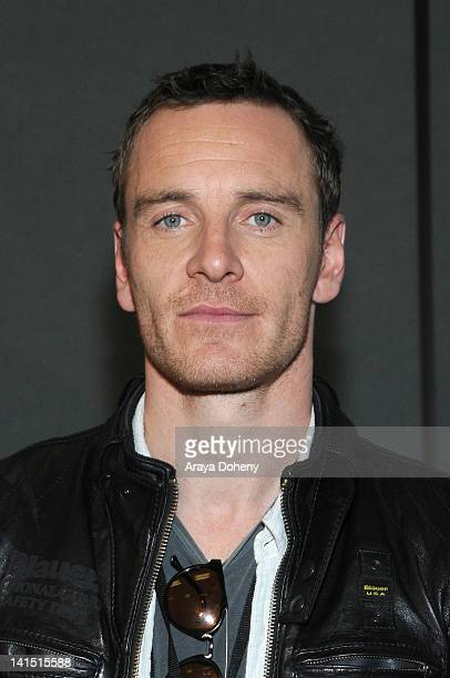 Michael Fassbender attends the ' Prometheus' conference at WonderCon 2012 Day 1 at Anaheim Convention Center on March 17 2012 in Anaheim California