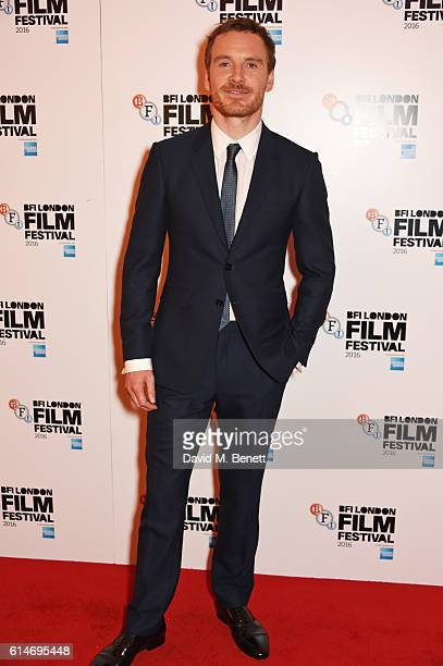 Michael Fassbender attends the 'Trespass Against Us' screening during the 60th BFI London Film Festival at Vue West End on October 14 2016 in London...