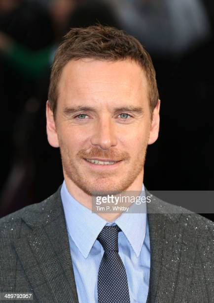 Michael Fassbender attends the UK Premiere of 'XMen Days of Future Past' at Odeon Leicester Square on May 12 2014 in London England