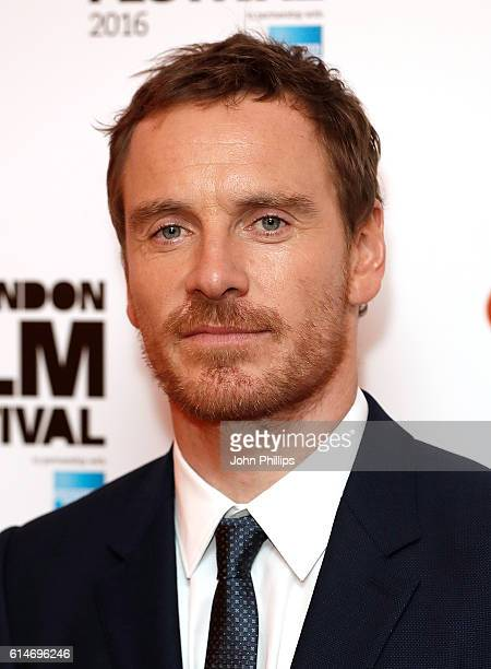 Michael Fassbender attends 'Trespass Against Us' screening during the 60th BFI London Film Festival at Haymarket Cinema on October 14 2016 in London...